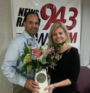 Manny Gonzales, Owner of Tiger Lily Florist displays flowers to make everyday special!